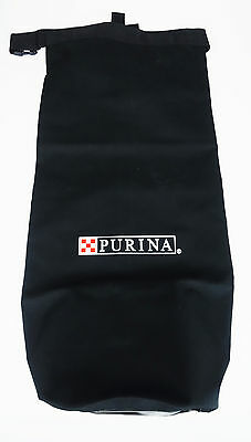 Purina Dog Food Hay Travel Bag Tote Black Lined Inside Top Missing Strap