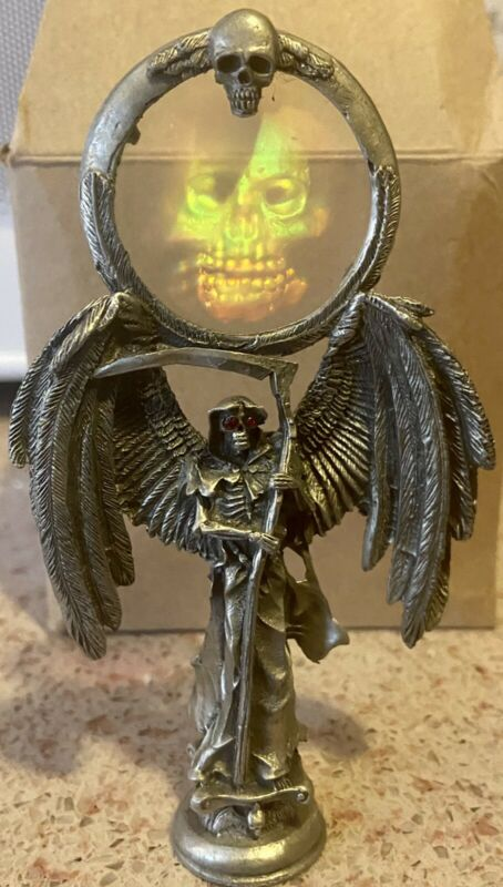 """Pewter Grim Reaper Skeleton with Hologram  5"""" Height   R. Murch by Gallo"""