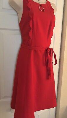 Goldray Kiki Scallop Dress Sz Lg Pretty Dress - Valentines Day Dress