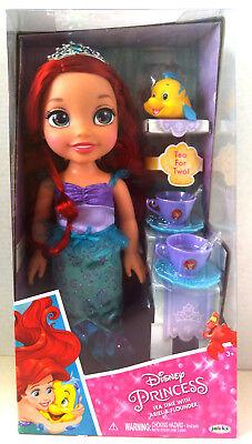 NWB Disney Princess Tea Time with Ariel & Flounder Doll set - A16