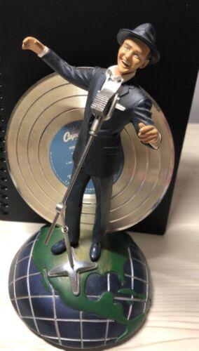 RARE Vintage FRANKLIN MINT Frank Sinatra Musical Figurine Statue w/LP Gold Vinyl