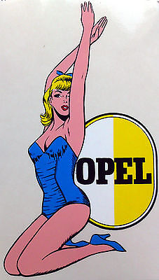 Opel Pin-up Girl inside-glas,20cm x 11cm Opel Classic Parts