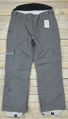 New QUIKSILVER Twister Pewter 20k Snowboard Snow Pants Size XL
