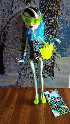 FRANKIE STEIN Swim Class Monster High Doll JUSTICE Exclusive Swimsuit BBR80 NOB