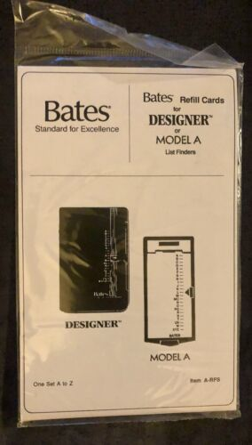 New/Sealed - Bates Refill Cards for Designer or Model A List Finders - New - New