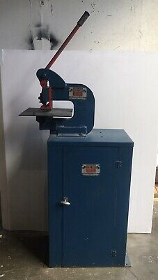 Whitney Jensen Hand Punch Press W Box Stand Model 118. Lot Dies Punches Incl.