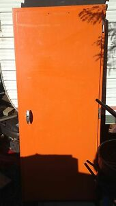 Old electrical circuit board box; Orange steel, metal, protective Sunshine Brimbank Area Preview