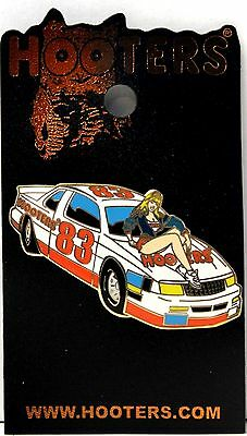 HOOTERS RESTAURANT BLONDE SEXY GIRL ON RACE CAR # 83 LAPEL PIN - RACING