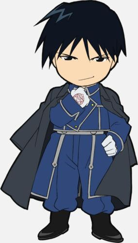 Full Metal Alchemist Roy Mustang Metal Anime Clip-On Zipper Charm Keychain