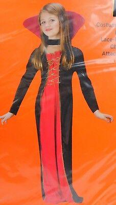 Dress Up Vampire Halloween (Vampiress Girl's Vampire Halloween Dress-Up Costume 8-10 Medium)