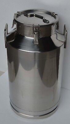 Ss15.8 Gallon Stainless Steel Milk Pail 60l Wine Beer Liquid Storage Farm Supply