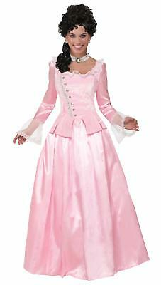 Colonial Maiden Pink Elegant Corset Adult Costume Dress