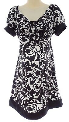 MEDIUM SEXY Womens BLACK & WHITE MATERNITY DRESS Summer Baby Shower Pea in Pod