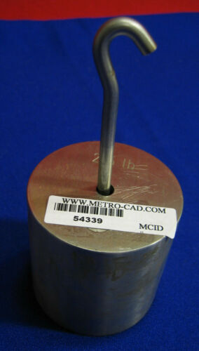 2.5 LB CALIBRATION WEIGHT, STAINLESS