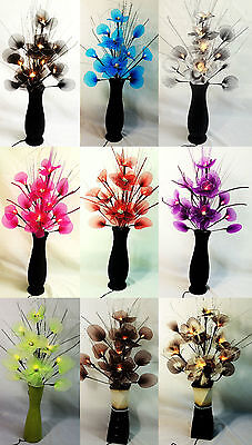 artificial flower arrangement with electric led lights lamps in 9 lovely colours (Artificial Flowers With Led Lights)