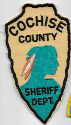 Vintage Spear patch Cochise County Sheriff State Arizona AZ OLD