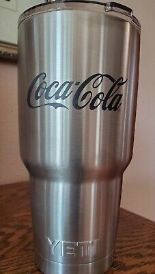 NEW - Coca-Cola branded 30 oz. Yeti® Rambler Tumbler - Stainless Steel
