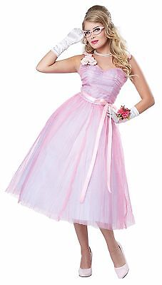 Adult 50s Teen Angel Prom Queen Women Costume