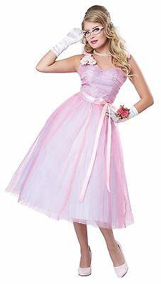 Adult 50s Teen Angel Prom Queen Women Costume 50s Prom Queen