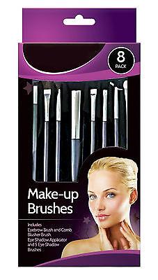 Glamorize 8 Pack Make-up Cosmetic Brush Set,Blusher,Eye Shadow,Eyebrow ,Comb