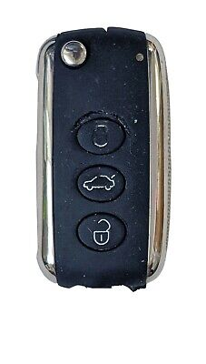 Bentley Keyless Entry Remote FCC KR55WK45032 3 Button Alarm Key Fob Cut Blade