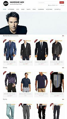 Amazon Affiliate Website - Mens Clothing Store Ecommerce