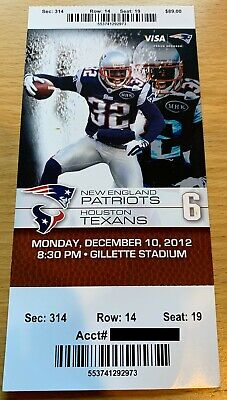 December 10 2012 New England Patriots Vs. Houston Texans