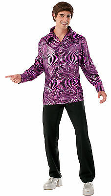 Adult Disco Dude Shirt Saturday Night Fever 70s  Costume One Sz - Saturday Night Fever Costume