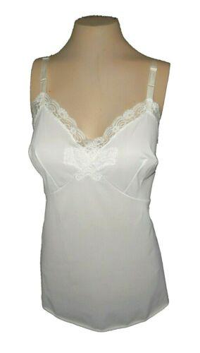 vintage 1960s Cami Shadowline, White  Lace, 38