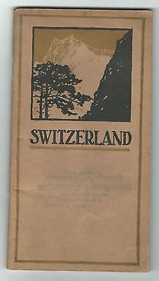 Old Promotional Tourist Book SWITZERLAND Published By Swiss State Railroads PXs