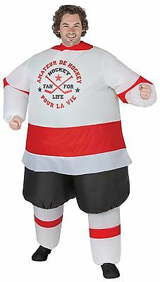 Funny Mascot HOCKEY PLAYER INFLATABLE INSTANT COSTUME-Airblown Fan-Unisex Adult](Hockey Players Halloween)