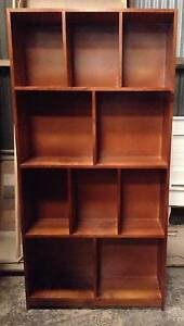 Stained Tassie Oak Pigeon Hole Bookcase Revesby Bankstown Area Preview