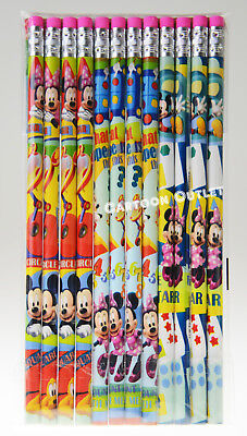 24 pc MICKEY MOUSE PENCILS w/erasers FOR CANDY BAGS GIFTS PARTY FAVORS DISNEY - Mickey Mouse Party Bags