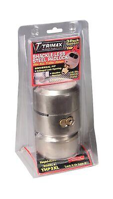 Trimax Thp3xl Hockey Puck Keyed Alike Internal Shackle Trailer Door Lock