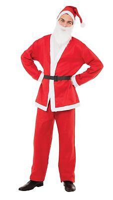 Neu Budget Weihnachtsmann Kostüm Set 5 Teile Erwachsene Herren - Budget Kostüm