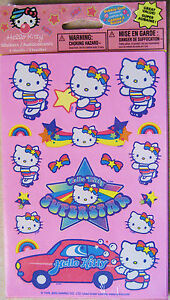HELLO KITTY STICKERS PARTY SEALED 3 sheets FREE SHIP BUBBLE GUM SCENTED***SALE**