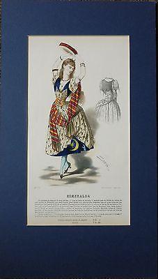 c1830 LADIES FASHION PRINT COSTUME ~ ESMERALDA ~ SELTIER ~ PATTERN CHARGES 72