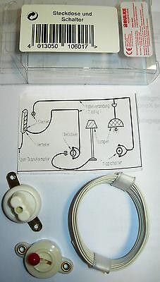 1 Socket & Switch 60910 Kahlert Dollhouse Electrical Lighting Range