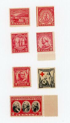 US Postage Lot of 7 1929-31 Scott #s, 682, 681 683, 689, 690, 702, 703 MNH
