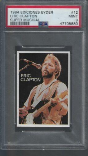 1984 Eric Clapton PSA 9  Ediciones Eyder Super Musical # 12 Pop 1/2 Highest