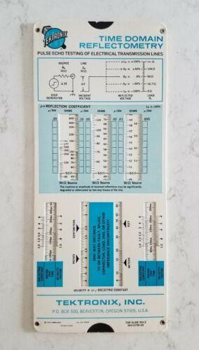 Vintage Slide Rule Tektronix Time Domain Reflectometry