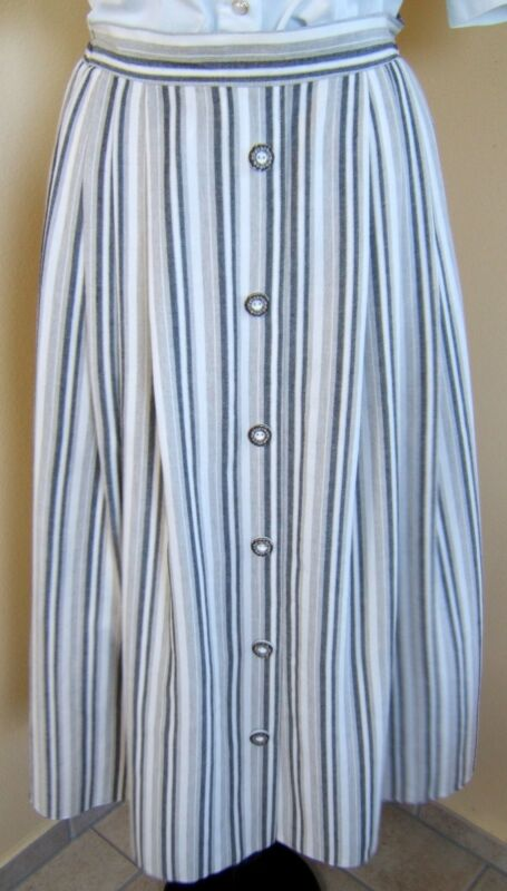 Landhaus Mode Germany Authentic Traditional Trachten Skirt Oktoberfest Sz.10 ?