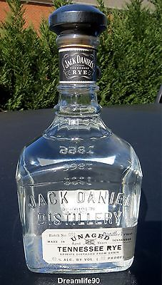 2012 Jack Daniels Unaged Rye Whiskey Batch #001 Empty Bottle #03942f Free Ship!