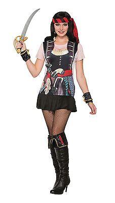 3D-T-Shirt Piraten-Gal, Frauen Kostüm #DE