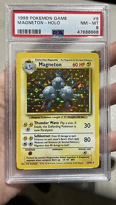 Magneton Holo Base Set 1999 NM MT 8 PSA Pokemon #9