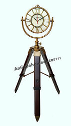 Retro Vintage Style Metal Clock Home Decoration Table Clock With Tripod Stand
