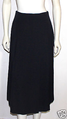andre COURREGES pleated black wool full skirt size A