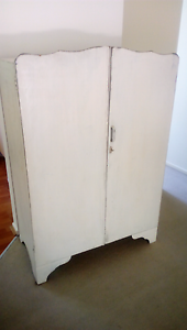 White shabby chic armoire cupboard Taringa Brisbane South West Preview