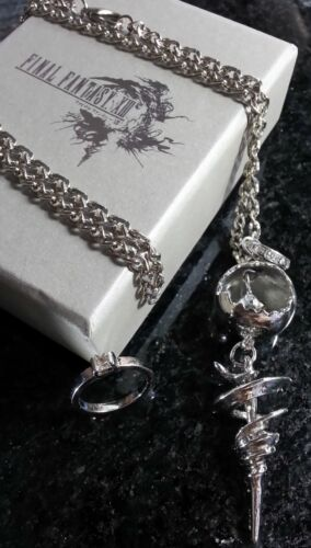Final Fantasy XIII-2 Serah Farron Necklace & Ring | FF13 Cosplay Squall Cloud