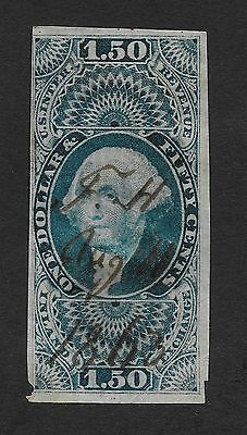 USA STAMP #R78c $1.50 1862 Revenue Stamp Imperforated (Z4)
